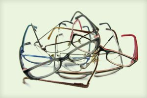 pile of old glasses