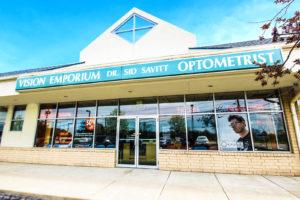 exterior of Vision Emporium Dr. Sid Savitt Optometrist office in Wickliffe