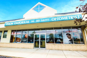 exterior of Vision Emporium Dr. Sid Savitt Optometrist office in Wickliffe